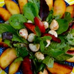 No-Potato Poached Peach Salad pic