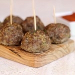 Oven-Baked Beef and Quinoa Meatballs