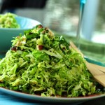 Shredded Brussel Sprouts (or Cabbage), Endive and Lemon Salad