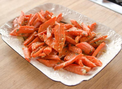 Roasted Carrots and Parsnips with Drizzled Vinaigrette