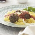 Red Quinoa Meatballs with Spaghetti Squash
